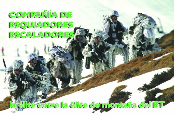 Compañia de esquiadores escaladores del ejercito de tierra español